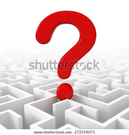 Confusion, lost in a maze - stock photo