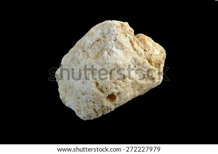 conglomeration of fine-grained gypsum - stock photo