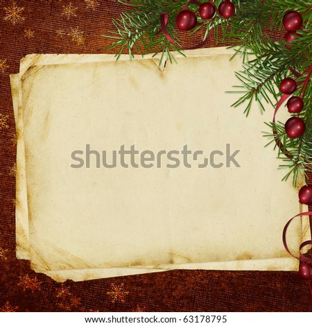 Congratulation card to Christmas and New year - stock photo