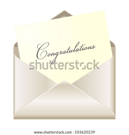 Congratulations card - stock photo
