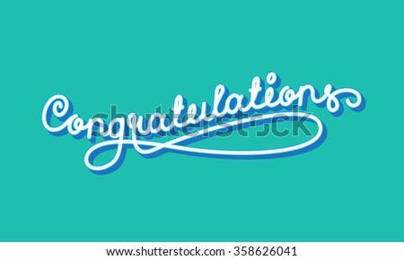 Congratulations Elegant Hand Lettering - stock photo