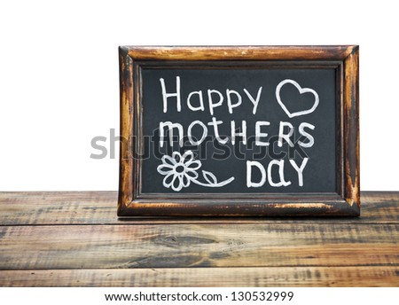 congratulations on Mother's Day on a white background - stock photo