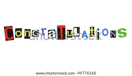 congratulations - ransom note style - stock photo
