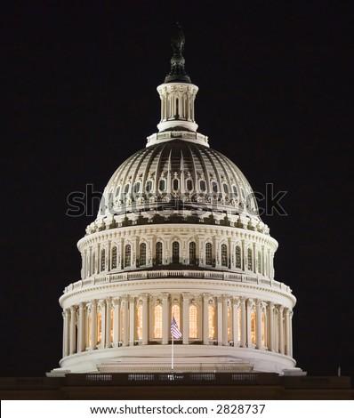 Congress at night - stock photo