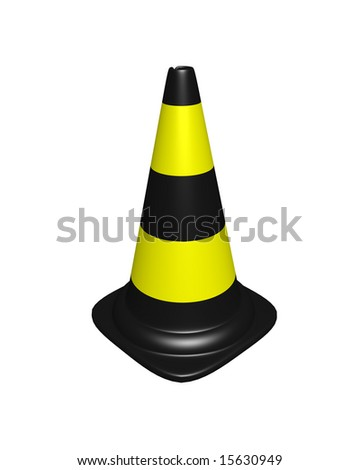 conical landmark for warning on road