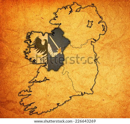 Borders Territories Provinces On Map Ireland Stock Illustration - Ireland provinces map
