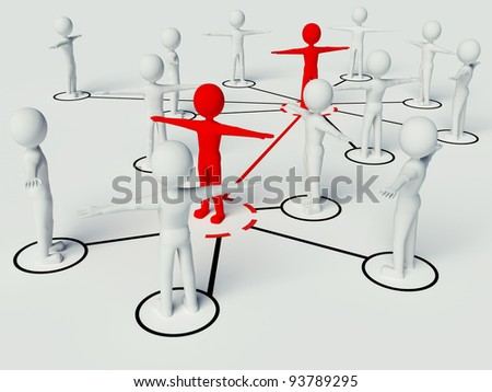 Connect business people in network
