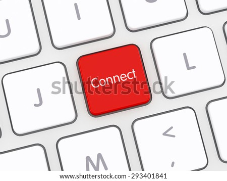 Connect Computer Keyboard - stock photo