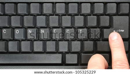 CONNECT concept on computer keyboard