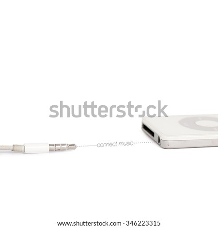 connect the music in isolated - stock photo