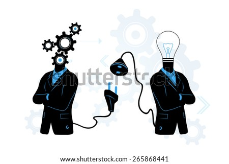 Connect to Idea concept - stock photo