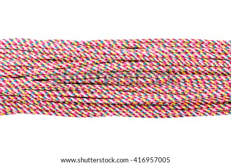 Connected concept , Different ropes  isolate on white with clipping path