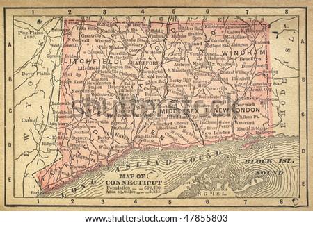 Connecticut Map Stock Images RoyaltyFree Images Vectors - Maps of connecticut