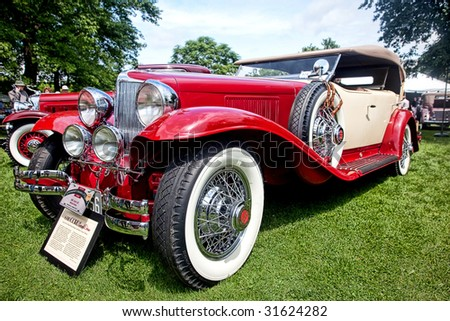 CONNECTICUT - JUNE 06: Cord L-29 1930 showing at Greenwich Concours d`Elegance antique car show. June 06, 2009 in  Greenwich,CT.