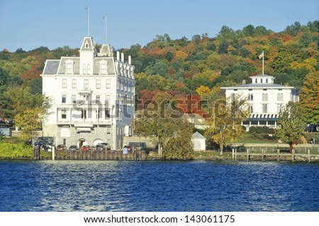 Connecticut River along scenic Route 154, East Haddam, Connecticut - stock photo