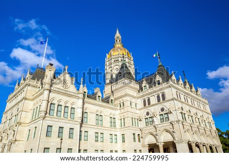 Connecticut State Capitol in Hartford, Connecticut in USA - stock photo