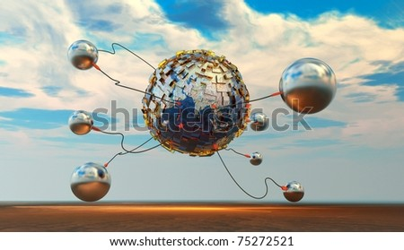 Connecting People - stock photo