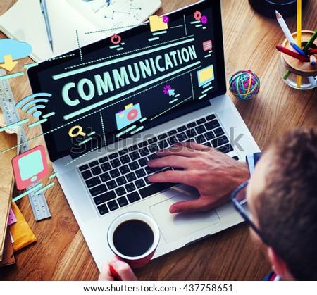 Connection Communication Link Digital Social Concept - stock photo
