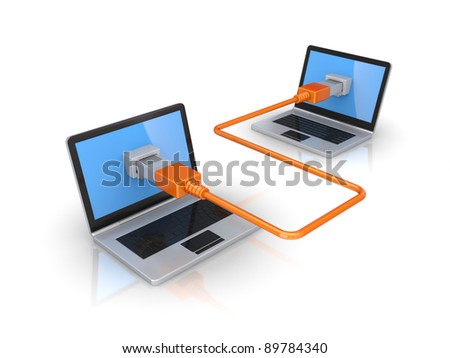Connection concept.Isolated on white background.3d rendered. - stock photo