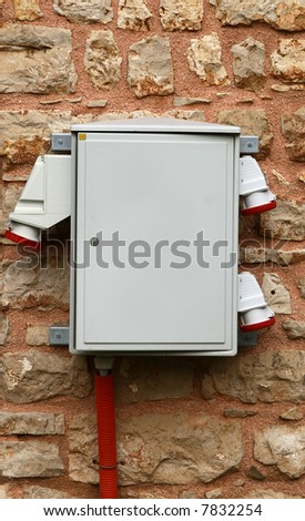 Connection for various high voltage electric consumer - stock photo