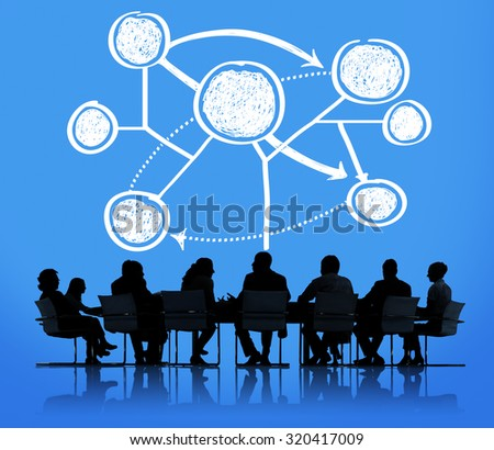 Connection Global Communications Corporate Networking Concept - stock photo