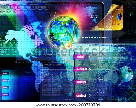Connection.Internet - stock photo