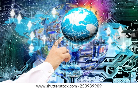 Connection Internet technology - stock photo