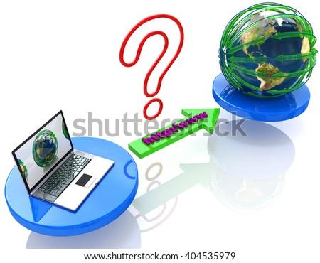 Connection Internet www address.3D Illustration - stock photo