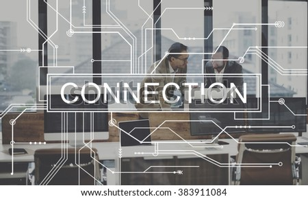 Connection Network Online Social Media Circuit Stock Photo (Royalty ...