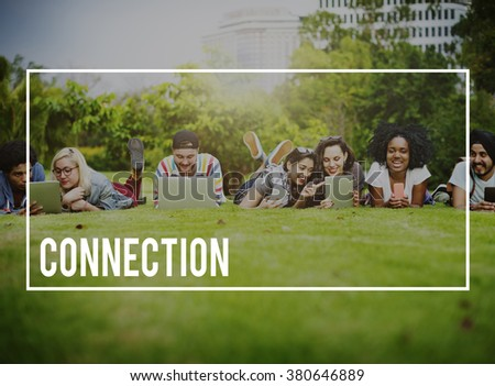 Connection Social Media Networking Contact Interconnection Concept - stock photo
