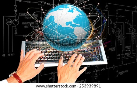 Connection technologies.Internet - stock photo
