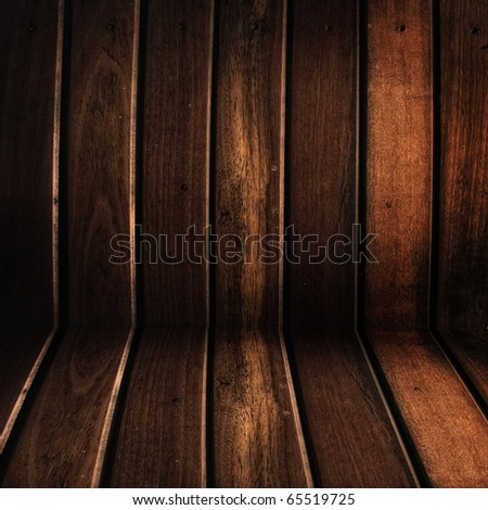 conner of grunge wood room