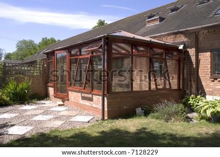 conservatory - stock photo