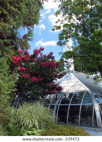 Conservatory View - stock photo