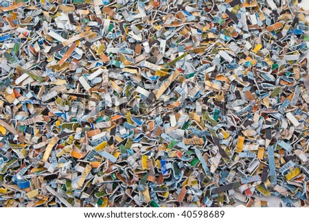 Considerable quantity of the deleted bank cards - stock photo
