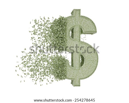 consisting of the dollar euro (path included) - stock photo