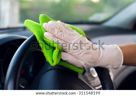 Console car cleaning - stock photo