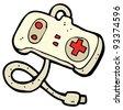 console controller cartoon (raster version) - stock photo