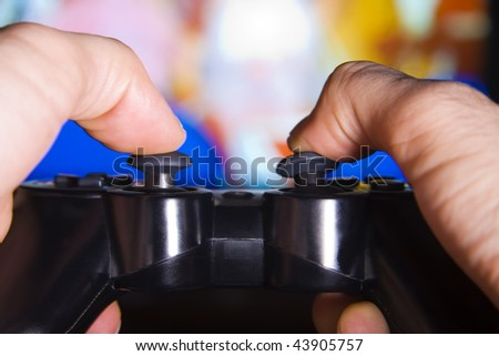 console, entertainment - stock photo
