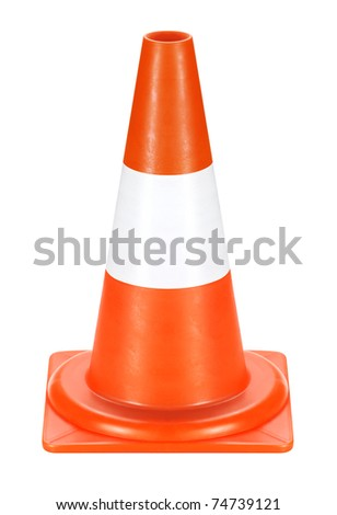 Conspicuous color warning road sign. Detour, road work, accident, etc. used. - stock photo