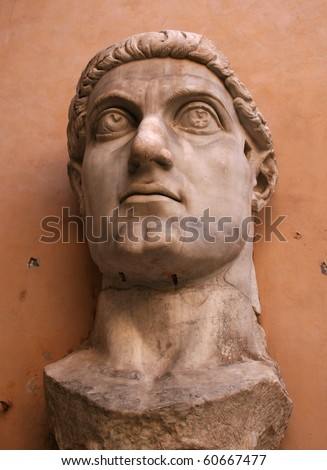 Constantine the Great: Roman Emperor who made Christianity the Official Religion of Rome - stock photo