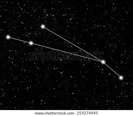 constellation Aries against the starry sky - stock photo