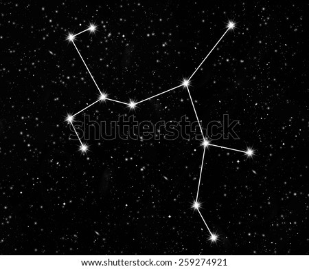 constellation Sagittarius against the starry sky - stock photo