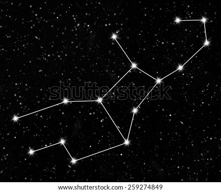 constellation Virgo against the starry sky - stock photo
