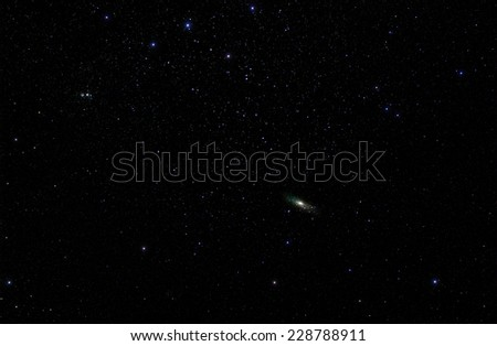 Constellations Cassiopeia and Andromeda with the Andromeda Galaxy