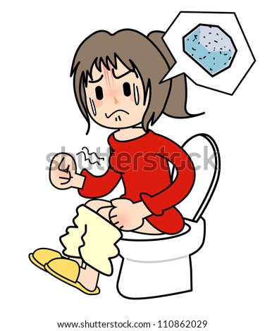 Constipation - stock photo