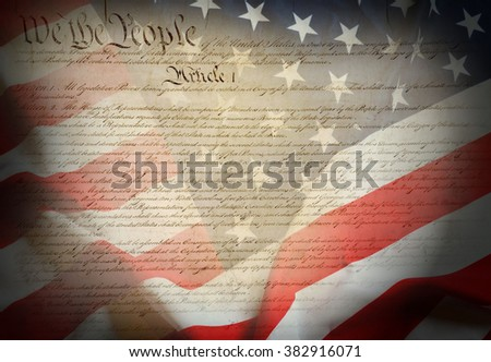 Constitution of USA - stock photo