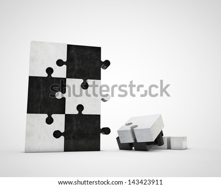 constructing puzzle - stock photo