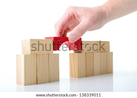 constructing the final piece - stock photo