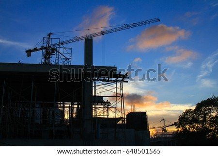 Construction and blue sky